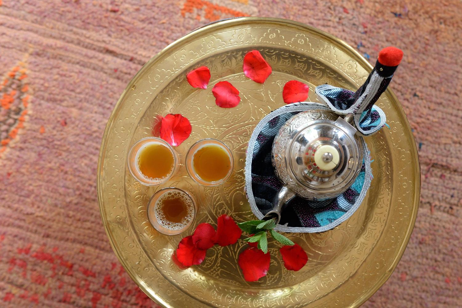 RIAD AZZAR GUEST HOUSE MARRAKECH TEA