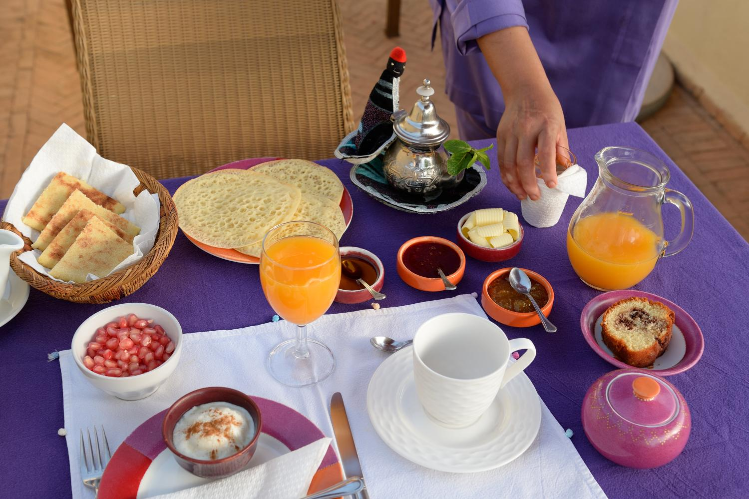 RIAD AZZAR GUEST HOUSE MARRAKECH BREAKFAST