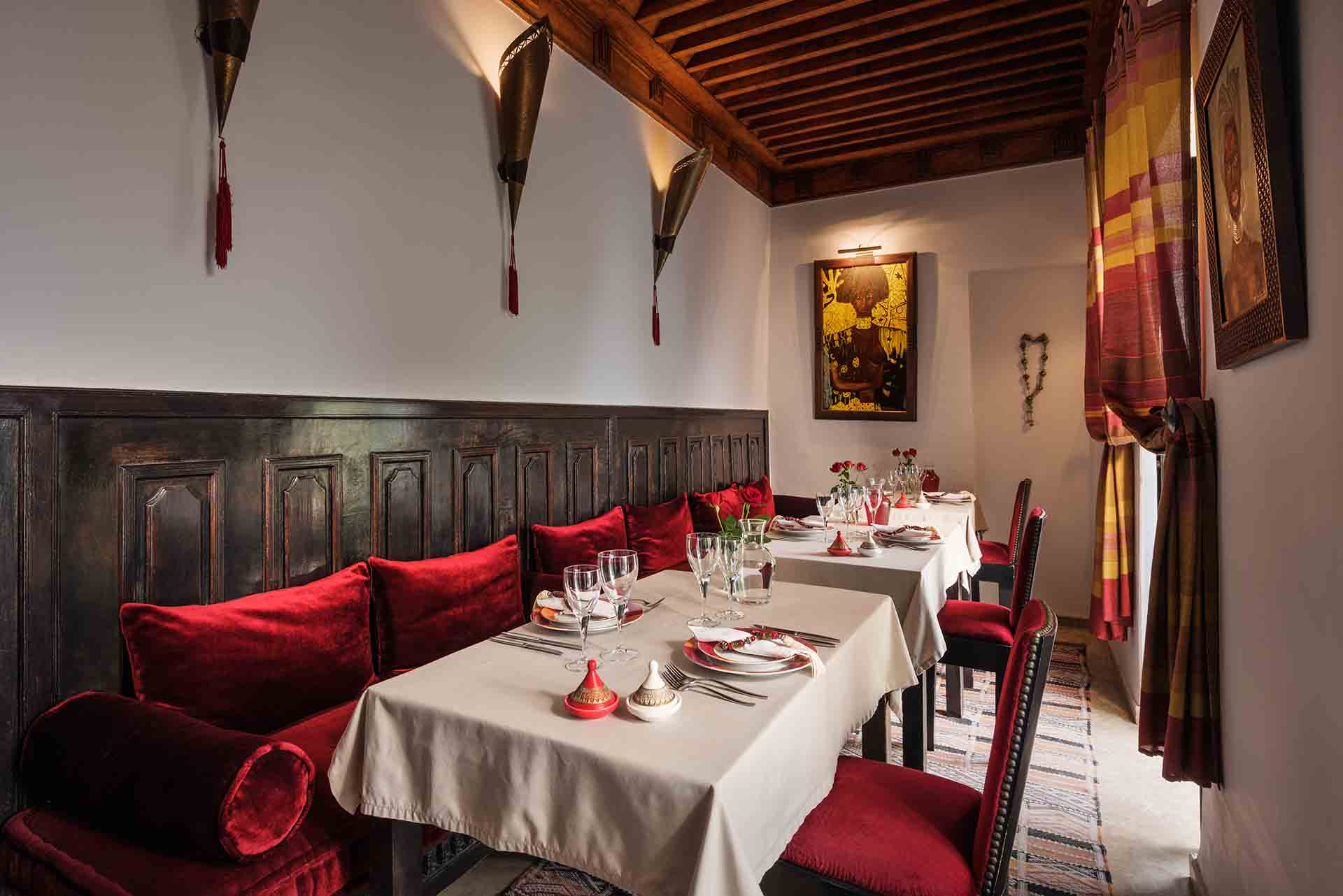 RIAD AZZAR GUEST HOUSE MARRAKECH DINING ROOM